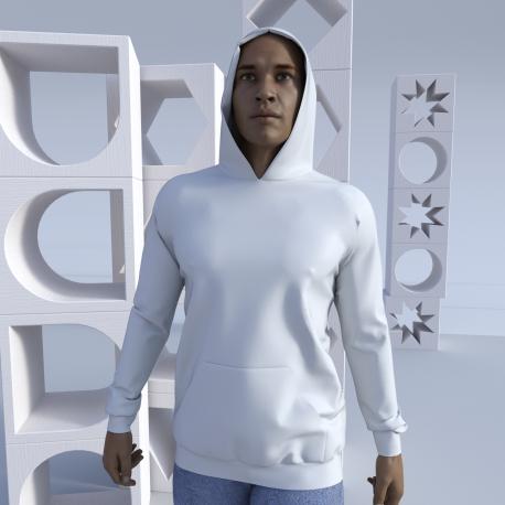 Unisex Long Hoodie Inner Kaiti fully printable also in hood