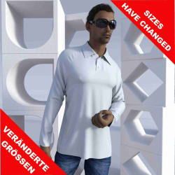 "Men Long-sleeve Polo shirt with raglan sleeves ""Taupiri"""