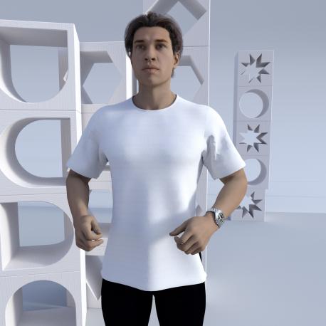 Herren Kurzarm Rundhals T-Shirt Mount Albert vollflächig selbst designen