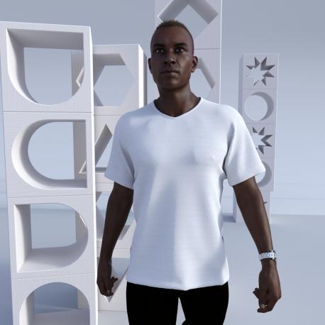 Men's custom Short Sleeve V-Neck T-Shirt Kingsland