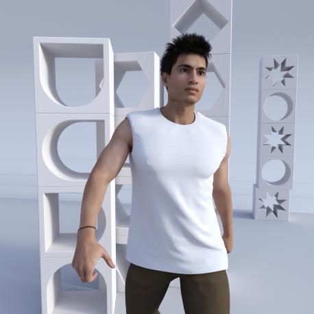 Herren Ärmelloses T-Shirt Pahi bedruckt durch Sublimation