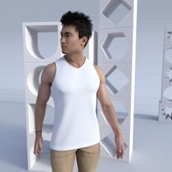 Men's V-Neck customizable Singlet Paparoa
