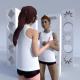 Damen V-Neck Singlet Opononi design dein eigenes