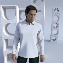 Men's Long Sleeve Sublimated Polo Shirt Whitianga
