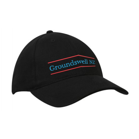 Groundswell NZ cap with embroidered colour logo