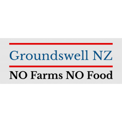 Groundswell NZ NO Farms NO Food REFLECTIVE Bumper Sticker