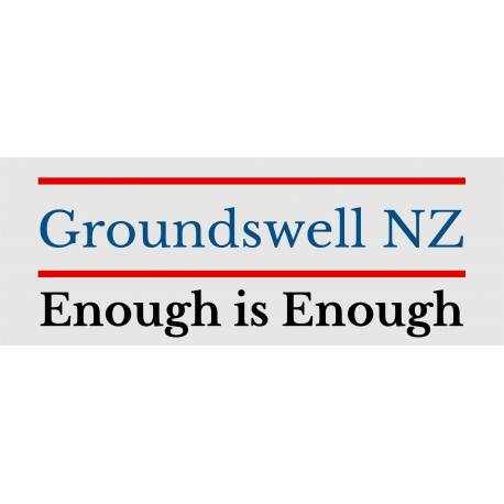 Groundswell NZ Enough is Enough REFLECTIVE Bumper Sticker