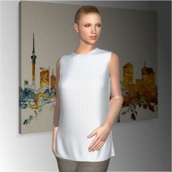 "Women Sleeveless Shirt ""Eden Valley"""