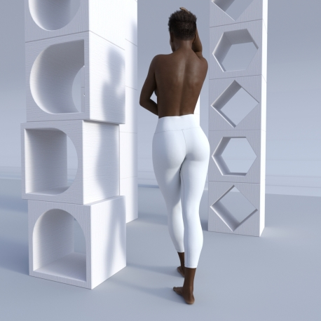 Leggings standard length for all-over printing