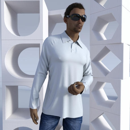 "Long-sleeve Polo shirt ""Raglan"""